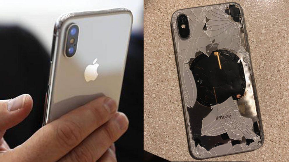 immagine riparazione iphone x schermo rotto